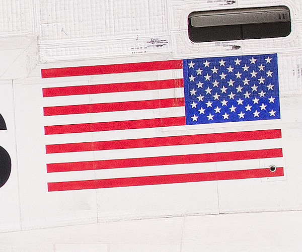 Flag closeup